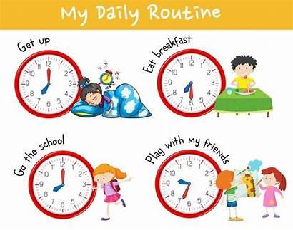 Routine Daily Chart Activity Different Clipart Showing