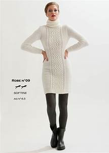 Modele de tricot robe femme catalogue cheval blanc n for Robe en tricot
