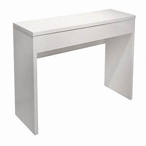 console meuble et table console consoles de salon alinea With meuble pour petite entree 5 petite console en bois de mindy faible profondeur