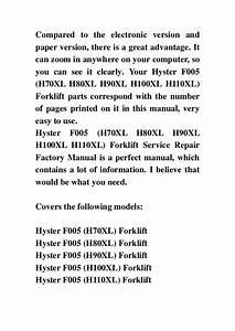 Hyster F005  H70xl H80xl H90xl H100xl H110xl  Forklift