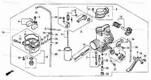 Honda Motorcycle 1996 Oem Parts Diagram For Carburetor