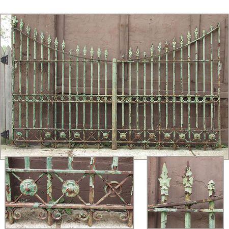 antique gothic revival cast  wrought iron driveway