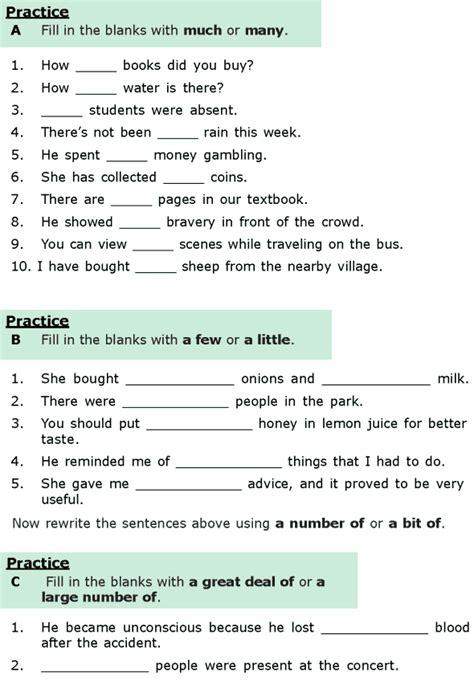 worksheets grammar class 6 grade 6 grammar lesson 16 quantifiers 1 language