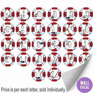 wall letters nautical ocean sailing red white blue letter With white vinyl letter stickers