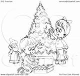Outline Tree Coloring Children Trimming Clip Royalty Illustration Clipart Funny Quotes Bannykh Alex Trimmers Copyright Quotesgram sketch template