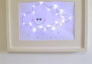 une veilleuse nuage dans un cadre ribba With carrelage adhesif salle de bain avec guirlande led ruban exterieur