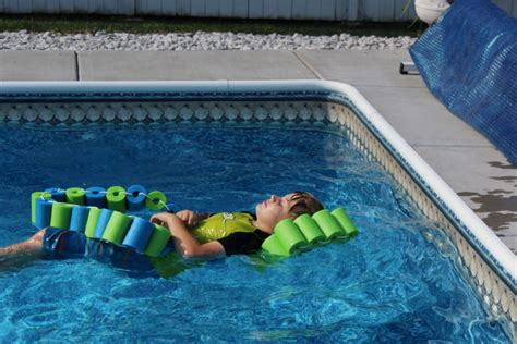 Diy Pool Noodle Fish Float With Headrest • A Family
