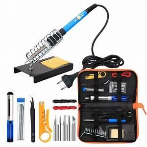 Esamact Eu Plug Electronic 60w Soldering Iron Tool Kit