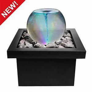 vortex whirlpool orb sphere water feature fountain colour With katzennetz balkon mit led indoor garden lights