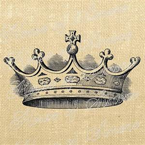 Crown Cross King Queen Royal Vintage Download Graphic Image