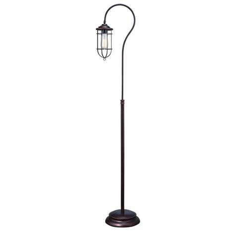 normande lighting normande lighting 62 in reddish bronze vintage floor l js1 3737 the home depot