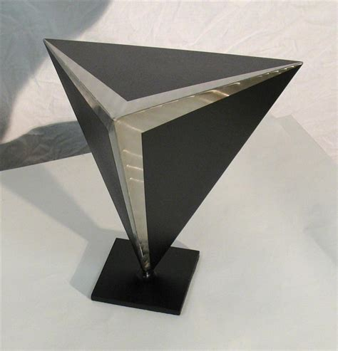 abstract metal sculpture g13 black