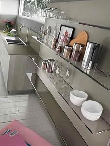 étagère En Verre Ikea : tag res de cuisine en verre design ~ Teatrodelosmanantiales.com Idées de Décoration