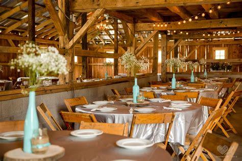 milestone barn  rustic wedding venue  bannister