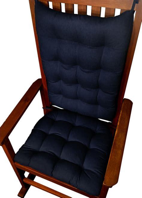 barnett home decor cotton duck navy blue rocking chair
