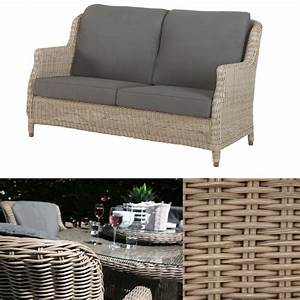 Lounge Sofa 2 Sitzer Outdoor : gartenbank 4seasons brighton pure 2 sitzer sofa geflecht rattan mit kissen vom gartenm bel ~ Whattoseeinmadrid.com Haus und Dekorationen