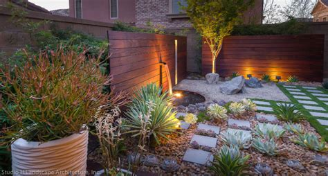 beautiful desert succulent zen garden contemporary