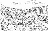 Coloring Falls Niagara Canyon Grand sketch template