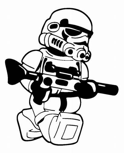 Vinyl Lego Stormtrooper Wars Star Decal Sticker