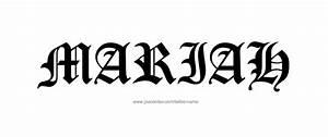 Mariah Name Tattoo Designs