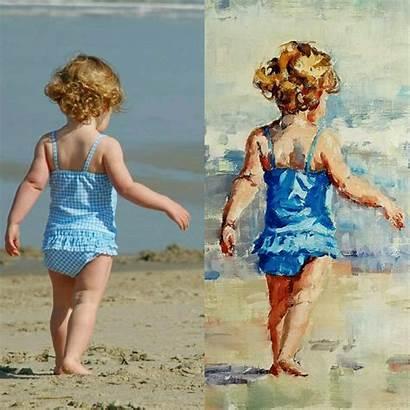 Impressionist Paintings Painting Children Strand Kinderen Artist