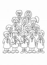 Coloring Pages Choir Children Template Choirs sketch template