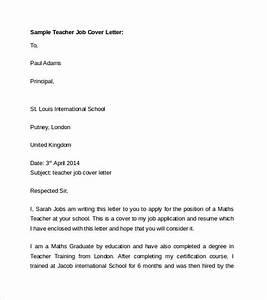 sample cover letter for fresher teacher job application With cover letter for hr fresher job