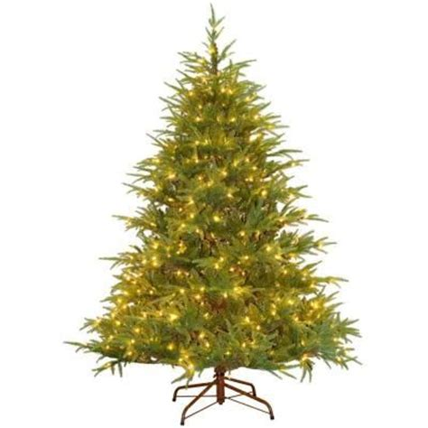price of real christmas trees at home depot generic 6 5 ft feel real fraser grande artificial tree with 550 clear lights pefg4