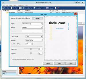 scanning in windows 8 With fax a scanned document