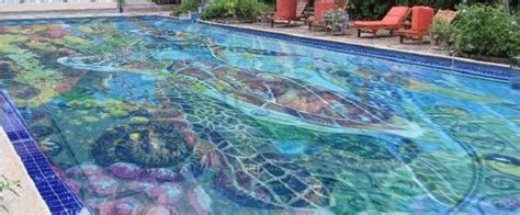 glow in the mosaic pool tiles most impressive swimming pool designs of the season