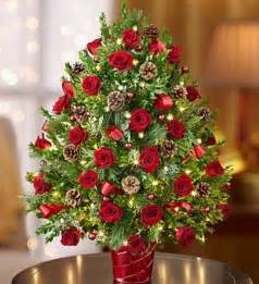 christmas floral tree decorations
