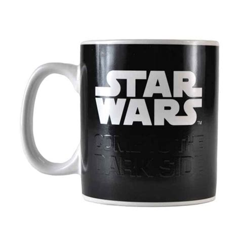 Zak designs star wars unique color changing ceramic coffee mug, collectible keepsake and wonderful coffee mug (15oz, han solo and mine has the star wars logo and the saber bases at the bottom and the colored sabers appear with heat. STAR WARS DARTH VADER HEAT CHANGING MAGIC COFFEE MUG CUP ...