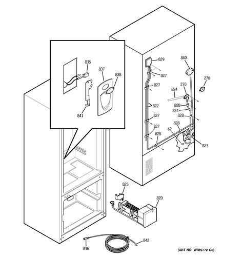 ge model pdssisblss bottom mount refrigerator genuine parts