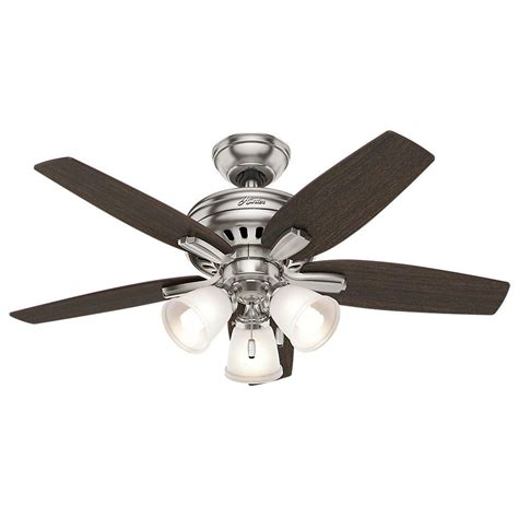 hunter conroy 42 in indoor white low profile ceiling fan