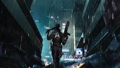 Cyberpunk Rain 1440p Background Desktop Resolution Mobile