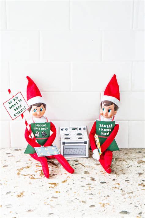 elf   shelf christmas baking printable set