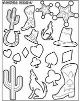 Cowgirl Coloring Charm Pages Crayola sketch template