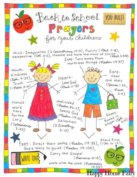 back to school prayers for your free printable 393 | Back to School Prayers for your children 791x1024