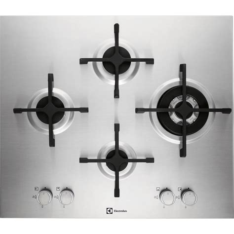 plaque de cuisson gaz plaque de cuisson gaz 4 foyers inox electrolux egu6648lox leroy merlin