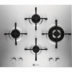 Plaque De Cuisson Gaz Conforama : plaque de cuisson gaz 4 foyers inox electrolux ~ Melissatoandfro.com Idées de Décoration