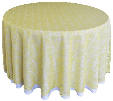 round lace table overlays canary yellow lace table overlays linens toppers round