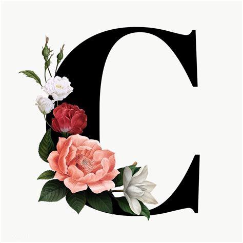 premium png  classic  elegant floral alphabet font letter  fonts alphabet