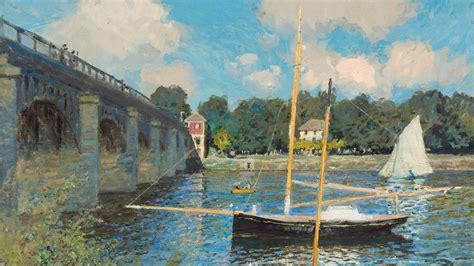Artwork, Claude Monet, Painting, Bridge, River, France