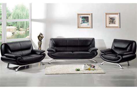 canape cuir luxe italien ensemble passy 3 pièces canapé 3 places 2 places