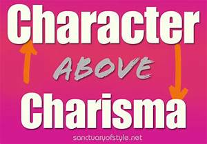CHARISMA OR CHARACTER | George W Black.com