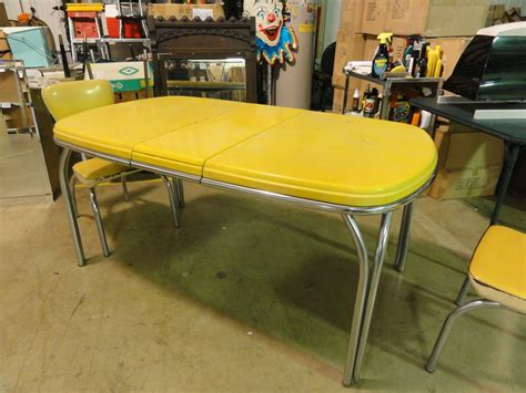 1950 kitchen furniture 1950 39 s dinette set retro vintage kitchen chrome yellow