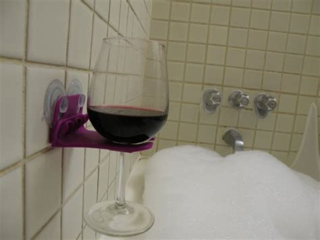 bathtub wine glass holder 3ders org 3d printed bath tub wine glass holder caign