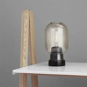 buy normann copenhagen amp table lamp smoke black amara With 5 amp table lamp