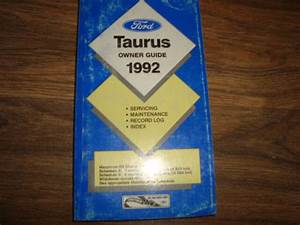 1992 Ford Taurus Owners Guide Glove Box Manual Nwio