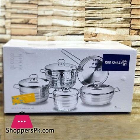cookware korkmaz pakistan astra pieces shopperspk sold place